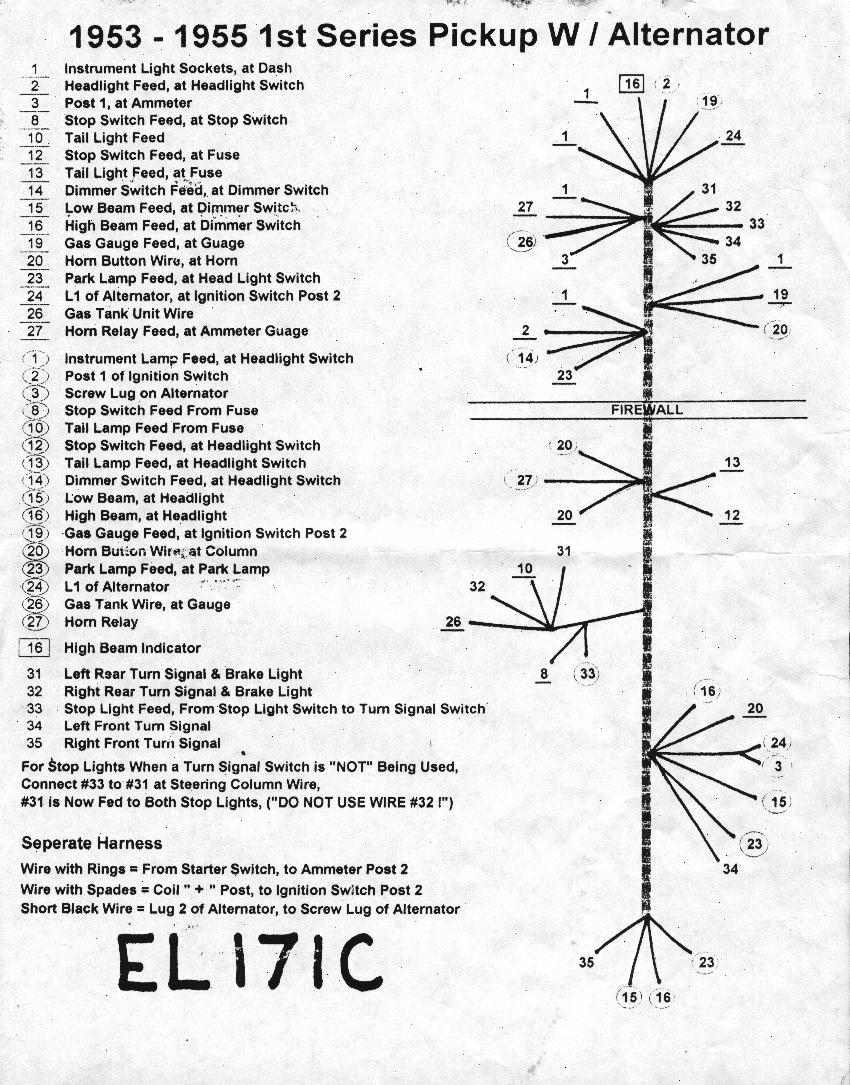 Work In Progress Log Nervous Breakdown Its Alive Horn Unit Wiring Diagram For 1954 Chevrolet Truck The Harness Several Problems Were Discovered First Not All Connectors Listed On Left Side Of Page Have Corresponding Marks