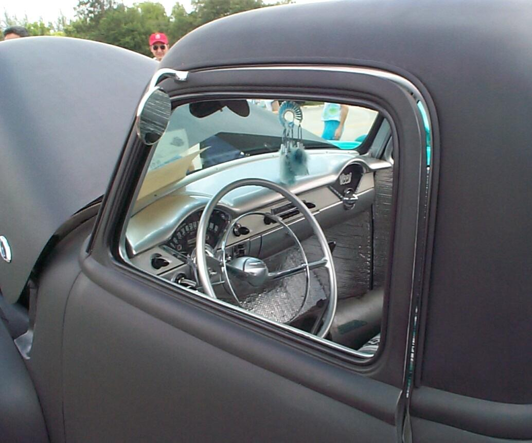 a '56 Chevy car dashboard
